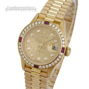 Rolex Lady Datejust 18K Factory Diamond Dial 26mm